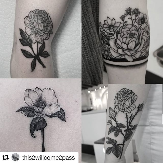 Blackwork Flowers By Artist This2willcome2pass Royalfleshtattoo Floraltattoo Florals Iblackwork Blackwork Blackworks Flesh Tattoo Tattoos Floral Tattoo