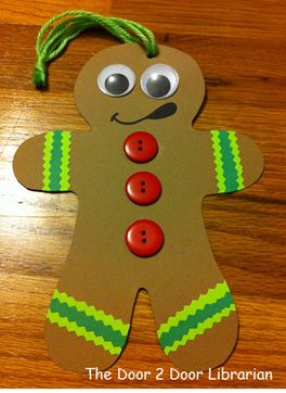 Gingerbread Man. Ornaments. Christmas. Storytime. Preschool. Library. Home school. Every Child Ready to Read. ECRR.