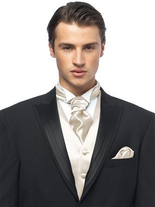 Custom Cravats In Duchess Satin Ivory