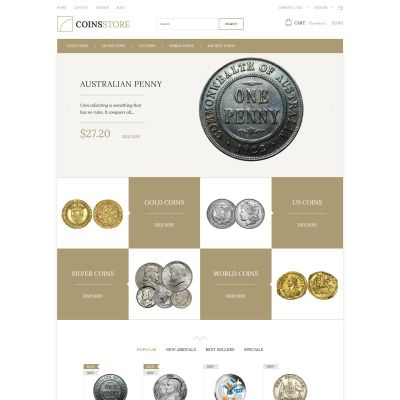 Coin Store Bootstrap PrestaShop Template