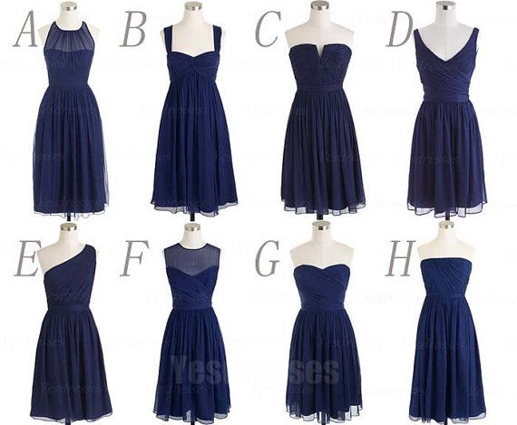 Hey, I found this really awesome Etsy listing at https://www.etsy.com/listing/193404888/navy-blue-bridesmaid-dresses-short