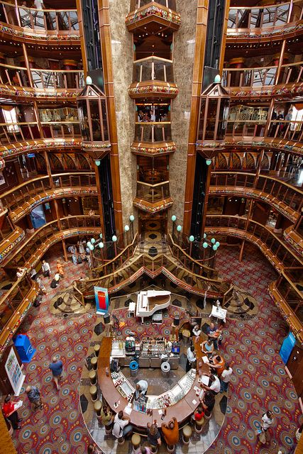 Carnival Cruise Lines, Carnival Paradise atrium by flee the cities, via Flickr