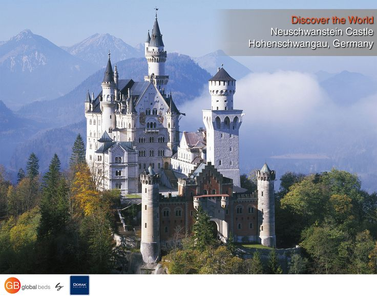 """The Neuschwanstein castle was built for only one person – the King Ludwig II.  Neuschwanstein means """"New Swan Stone"""". The name of the castle derives from one of Wagner's opera's character, the Swan Knight. Ludwig was Richard Wagner's patron, and many rooms of the castle were inspired by Wagner's operas.  #onlinebookingsystem #FIT #Neuschwanstein #Germany #castle #castleview #discovertheworld #instadaily #todayspost #view #viewoftheday #views #picoftheday #DorakHolding #GB #GlobalBeds"""