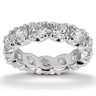 4.20 ct. Round Cut Diamond Eternity Wedding Ring. Available in 14K Gold, 18K Gold, Palladium & Platinum. / Style Number : EWB3445-4