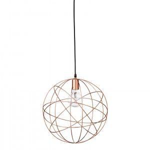 Bloomingville plafondlamp koper rond/geometrie