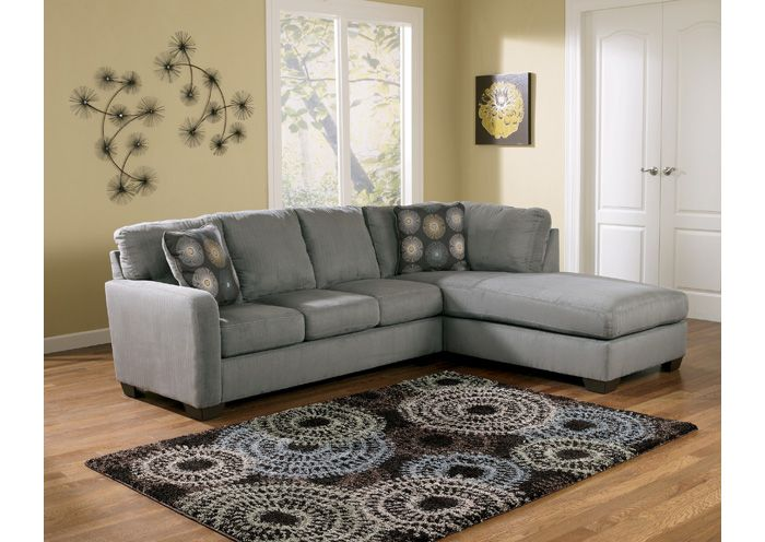 Signature Design By Ashley Living Room Zella Charcoal Right Chaise  Sectional 275120   Furniture Fair   Cincinnati U0026 Dayton OH And Northern KY