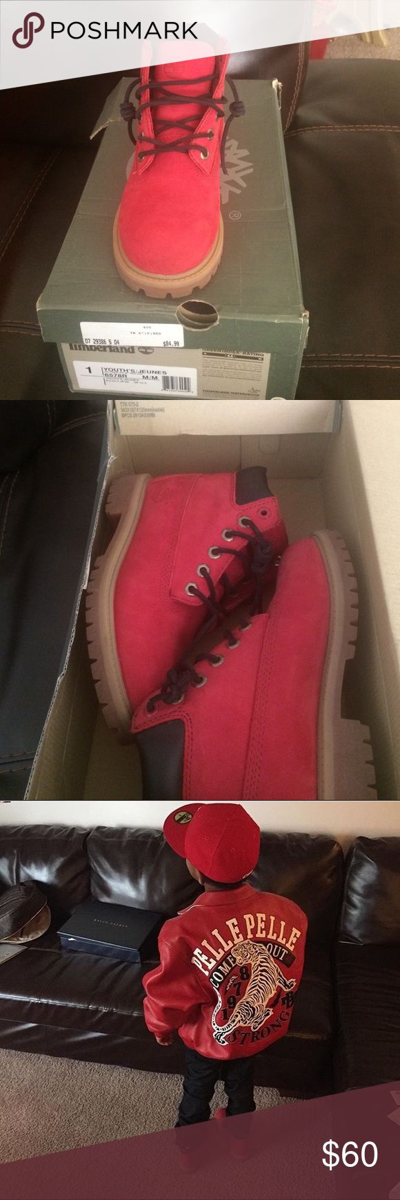 New timberlands boots for a boy Size 1 timberlands Timberland Shoes Boots