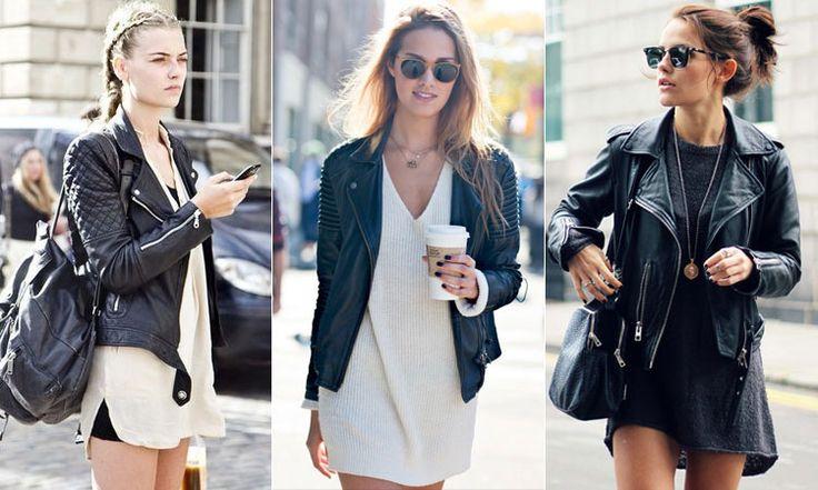 Женские осенние куртки под короткое платье и шорты