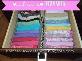 underwear organization, panty organizing, organizing panty, organizing underwear