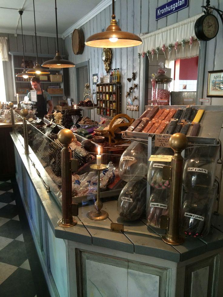 I en chokladbutik