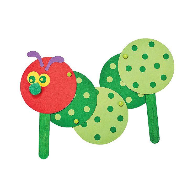 Caterpillars Craft Kit - OrientalTrading.com @Jen Holmgren