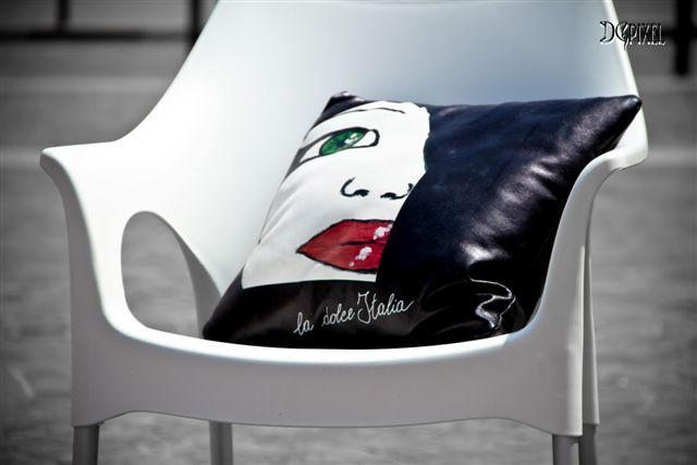 Cuscino in pelle copyright Lella Matta