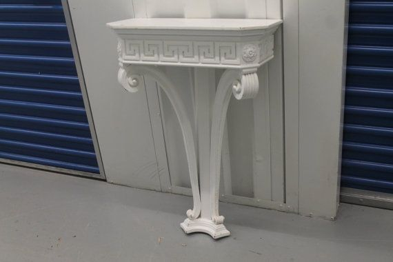 Foyer Key Table : Vintage greek key shelf sconce foyer table console wall