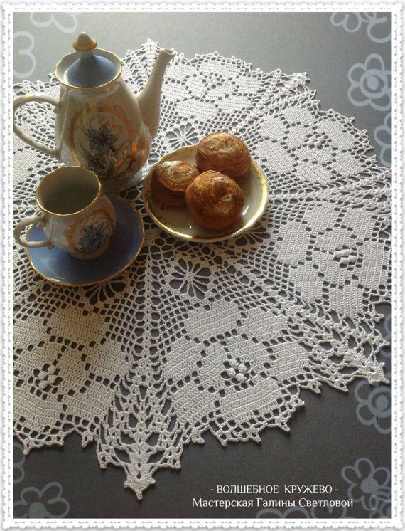 #Hand_knitted_crochet_lace_napkin #crochet_napkins #decoration_for_interior #round_napkin #doily_crochet / и мини-скатерть - #Hand_knitted_crochet_lace_napkin #crochet_napkins #round_napkin #doily_crochet #table_decoration #mini_tablecloth #Interior_decoration #Cozy_house #Interior_Design #For_home_comfort #home_decor #Knitted_interior
