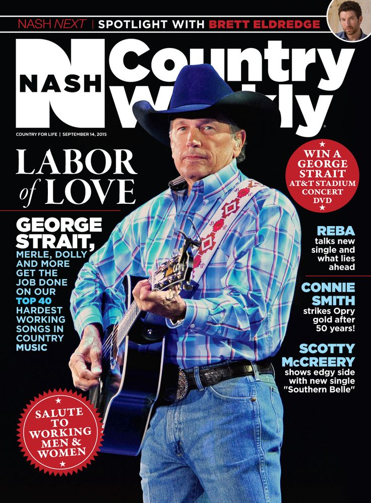 Sept. 14, 2015 issue of Nash Country Weekly featuring our Top 40 Hardest Working Songs in Country Music PLUS Nash Next Spotlight Artist Brett Eldredge