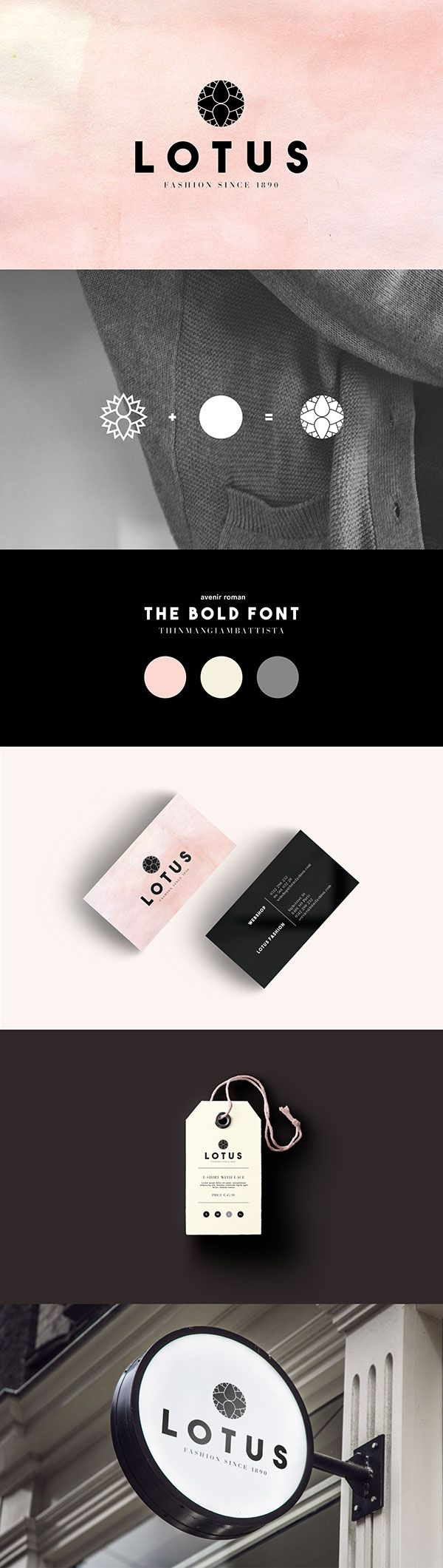 Lotus Branding - by Leonie van Dorth #lotus #brand #branding #design #inspiration #fashion #design #logo #graphic #fashion #shop