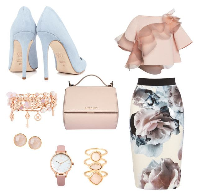 """""""Pastel flowers"""" by estebban-aguila on Polyvore featuring moda, Marc Jacobs, Dee Keller, Givenchy, Monsoon, Henri Bendel, Oasis y Saachi"""
