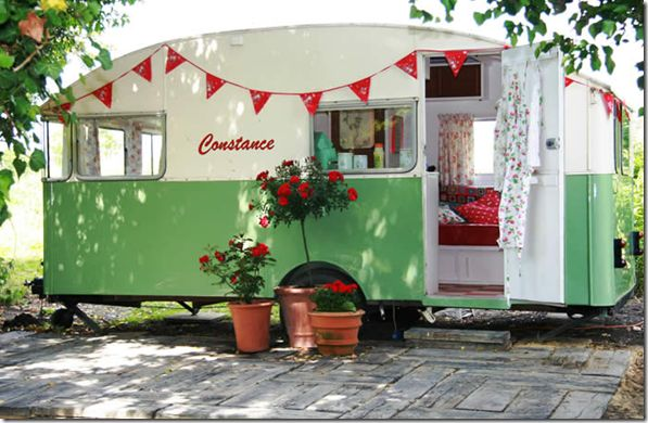 I would love to own a vintage airstream camper. Park it in the backyard and use it as an studio/guest room.