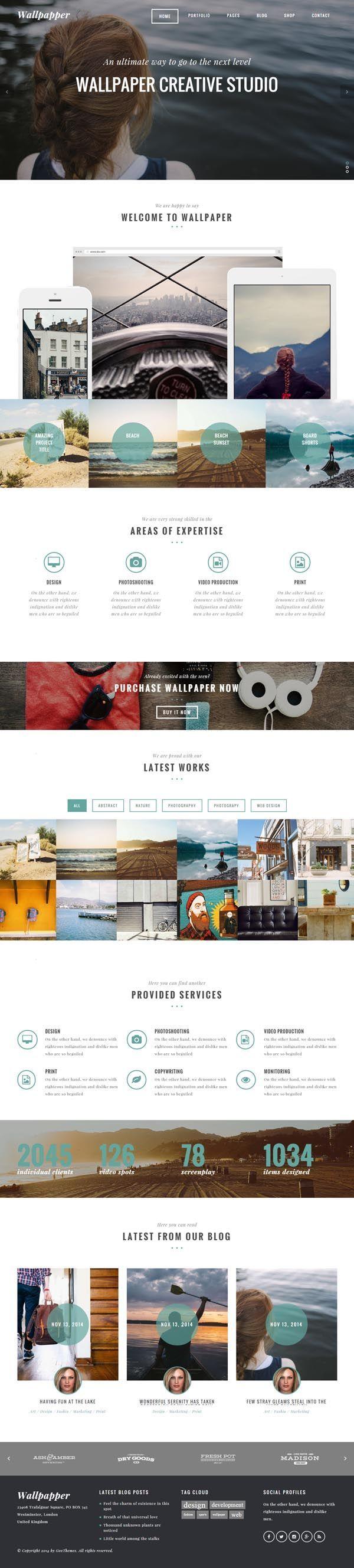 105 best WordPress Themes images on Pinterest   Website designs ...