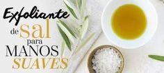 Exfoliante de sal para manos suaves