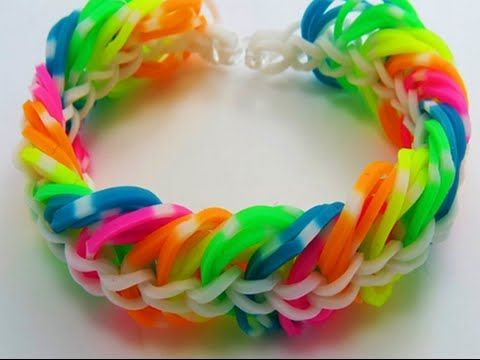 Tendance Bracelets  TUTO : bracelet élastique rainbow loom triple chaine sans machine