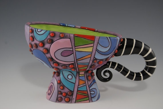 Mad Hatter cup by natalyasots on Etsy, $135.00