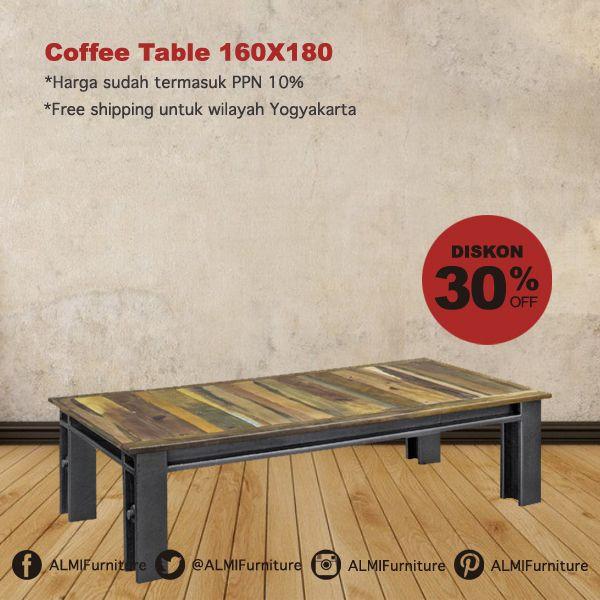 Tempatkan Coffee Table 160X180 di ruang tamu Anda, furniture dengan kontruksi kuat dan desainnya yang nyaman sebagai teman kumpul bersama keluarga Anda. Info Pemesanan Telp. (0274) 4342 888 (Customer Service & Sales) Cek disini..http://ow.ly/YJoed