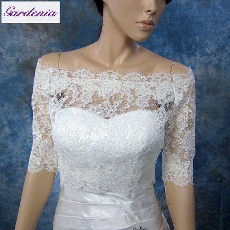 Fábrica por atacado meia manga Lace Wedding Bolero festa vestido de noiva Wraps vestido de noiva jaqueta de renda destacável em Casacos de casamento/Envoltório de Casamentos & Eventos no AliExpress.com | Alibaba Group