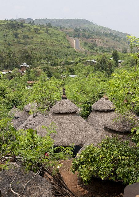 Village, Konso Cultural Landscape of Ethiopia ~ UNESCO World Heritage Site. Photo: Eric Lafforgue via Flickr