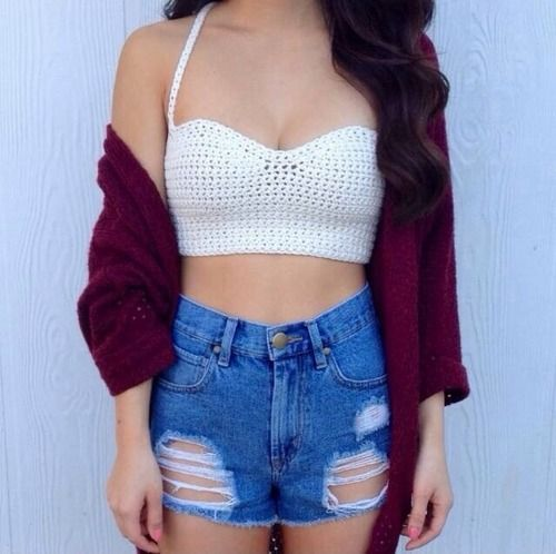 High (weighsted) shorts and crop top!--The fact that waisted is spelled like this is ruining my life.