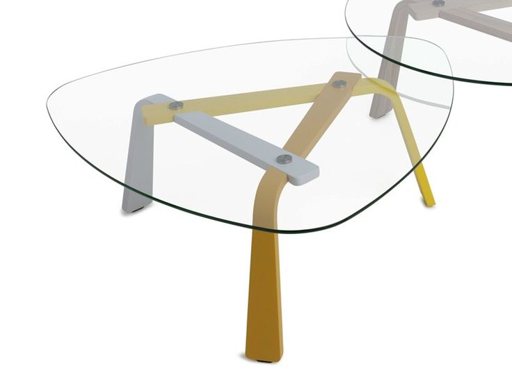 Glass coffee table for living room IRIS by LEOLUX | design Arjan Moors