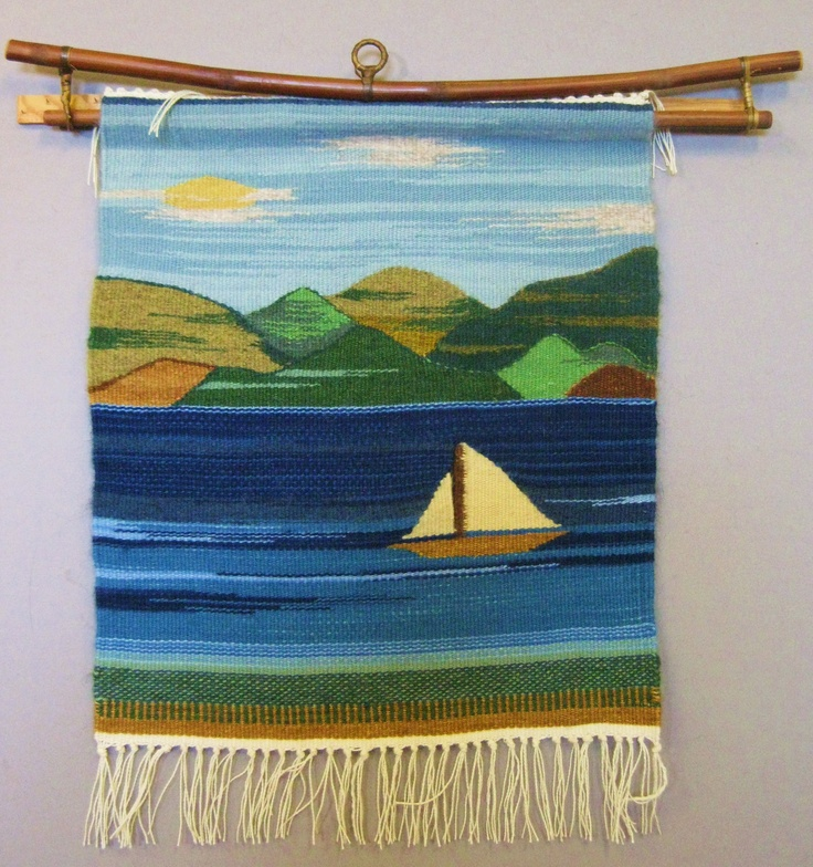 """""""Heron Lake"""" ... All pieces are handwoven in the Rio Grande Tradition (Hispanic) with 100% hand-dyed wool on a large floor walking loom. This style of weaving was brought to the Southwest by Spanish settlers in the 16th century and is traditional to the people of the middle and upper Rio Grande valleys in New Mexico and Southern Colorado, where I make my home. This style actually derives from the interweaving of the Spanish, Mexican native, and the local Indian pueblo weaving cultures."""