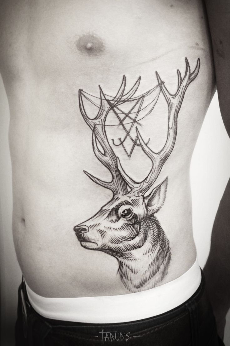 Considering getting a deer tattoo like this one as a thigh piece