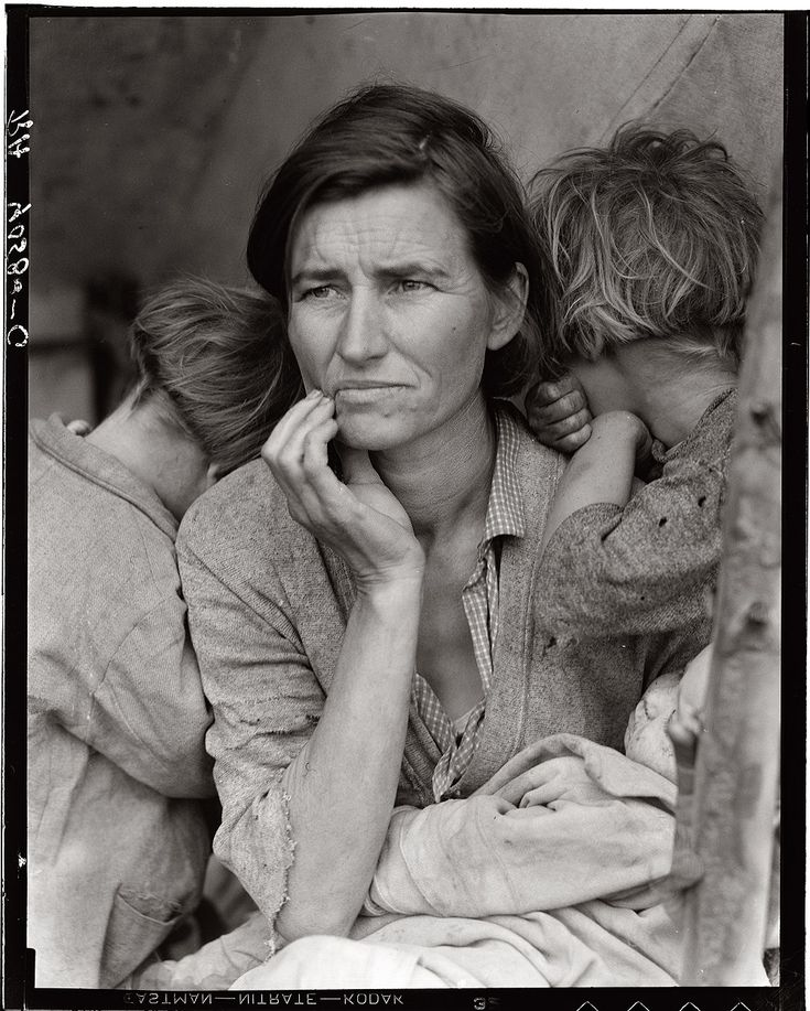 Photo: Dorothea Lange: Migrant Mother, Nipomo, California. 1936.