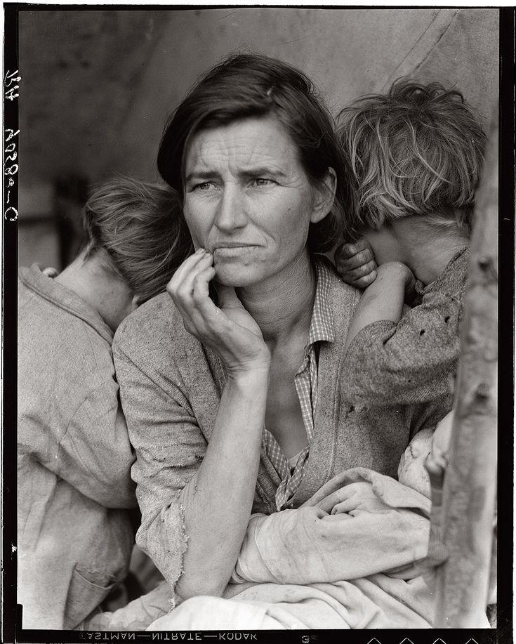 Photo: Dorothea Lange: Migrant Mother, Nipomo, California. 1936.
