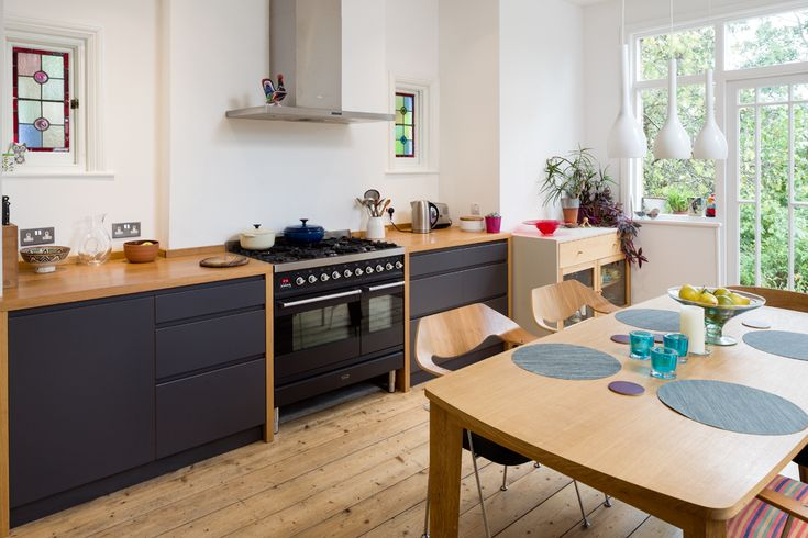 Laminated Birch plywood, Solid Oak & Concrete worktops hand made by Constructive and Co. Ltd
