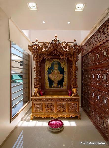 34 best pooja mandir images on pinterest for Pooja room interior designs