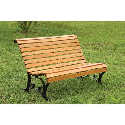 Hokku Designs Simply Slatted Outdoor Garden Bench & Reviews | Wayfair