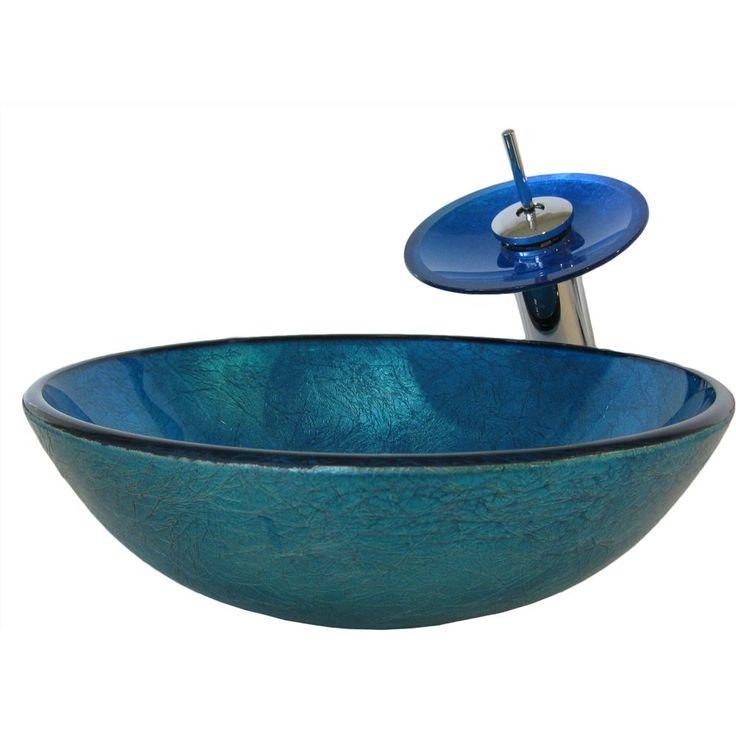 Novatto NSFC-S132001CH Verdazzurro Chrome Vessel Single Bowl Bathroom Sinks  eFaucets.com