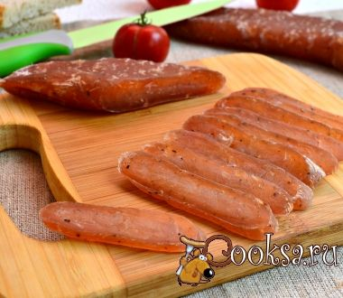 Сыровяленая домашняя колбаса из куриного филе