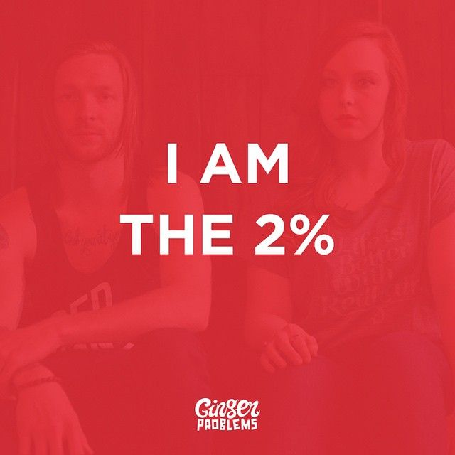 i am the 2%  ginger facts