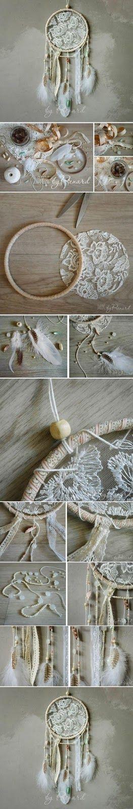 Artesanato com amor...by Lu Guimarães: Filtro dos Sonhos em crochê