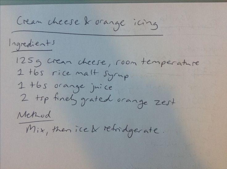 Cream Cheese & Orange Icing