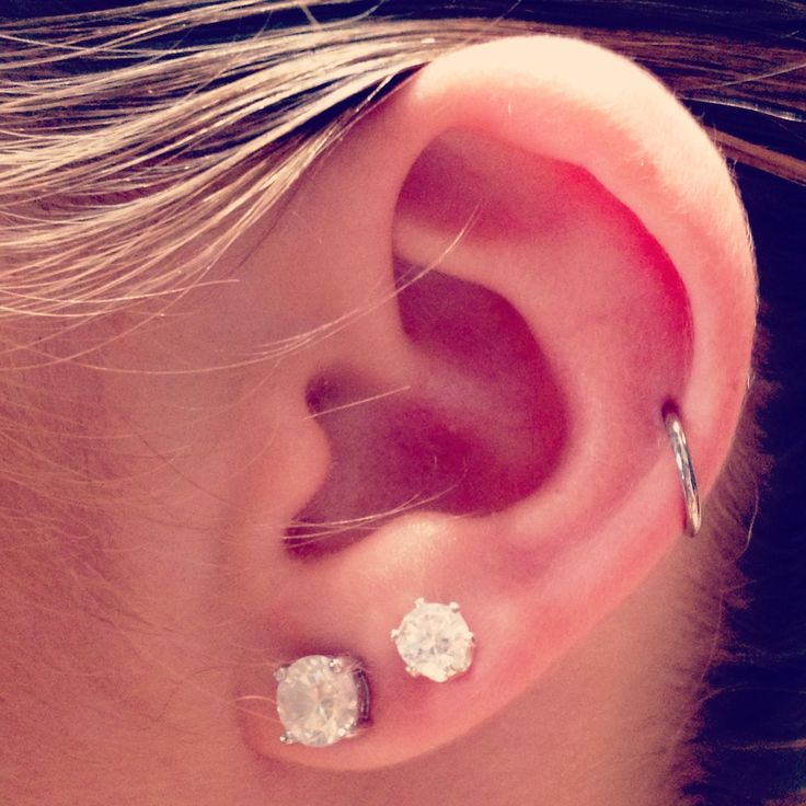 Basically what my right ear will be in a little while, but the ring higher up.