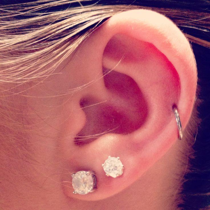 Single cartilage hoop. Next Piercing