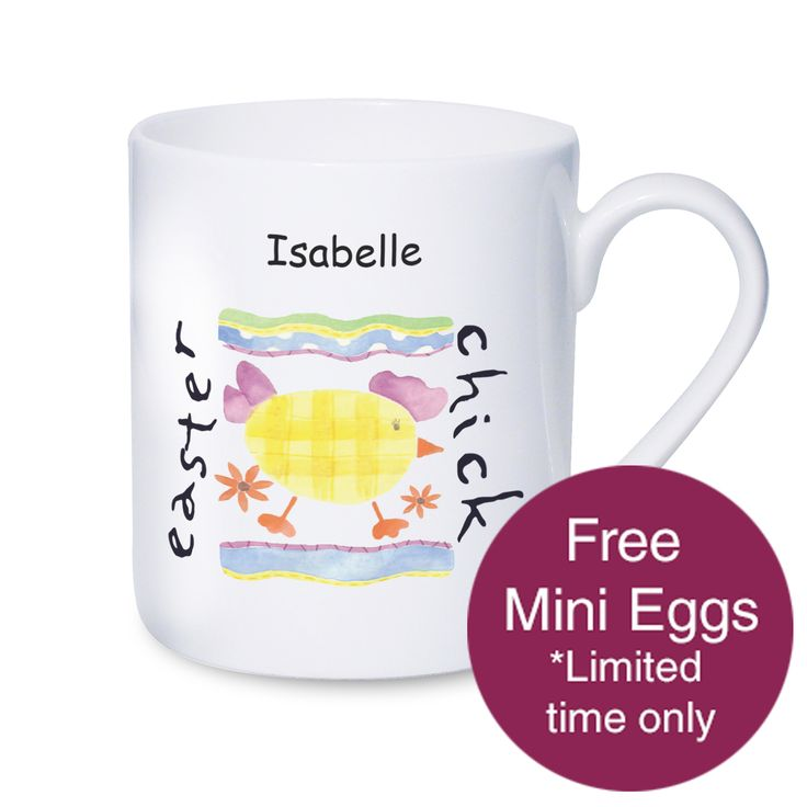 22 best easter images on pinterest easter gift personalised personalised easter chick mug negle Gallery