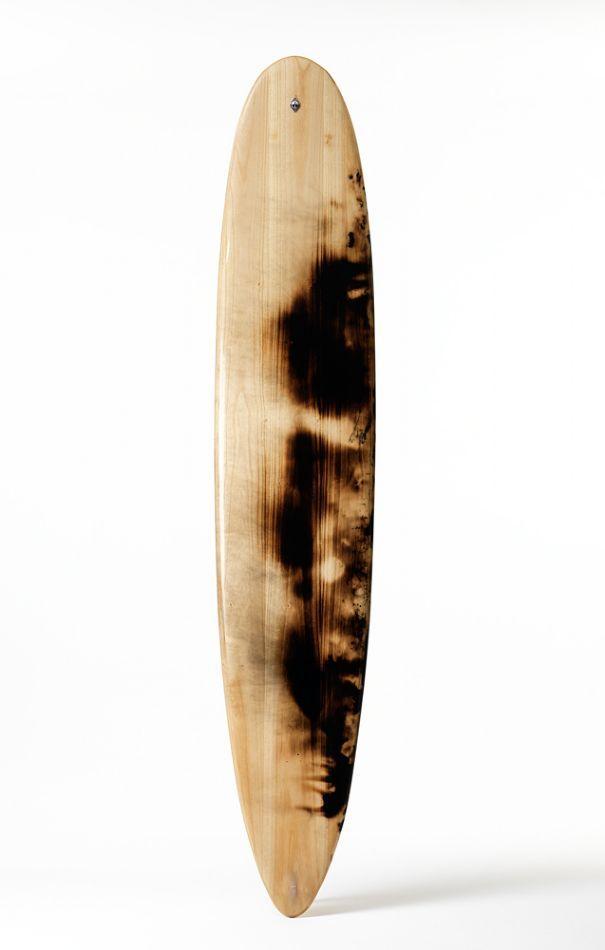 Firepainted surfboard by Walker