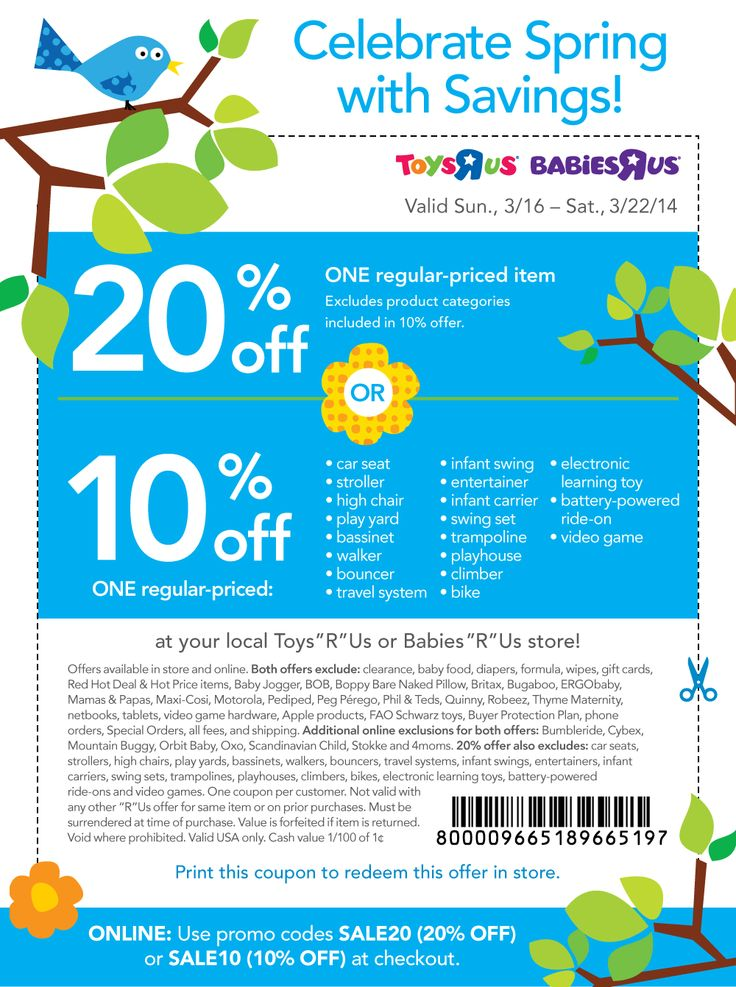 Toys R Us Coupon 20 Off One Item : coupon, Pinned, March, 16th:, Single, Babies, Online, Promo, SALE20, #coupon, Coupons,