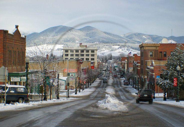 Main street of Lewistown, Montana where I went to high school.