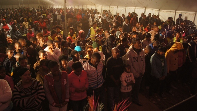 SASOLBURG - Amazing crowd in Zamdela!